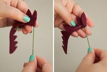 DIY Felt Flowers Bouquet