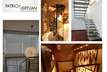 Escadas e O que fazer com o Espaço debaixo da Escada / Desenhos diferenciados de escadas  com os mais diversos materiais. Possibilidades de diversos usos para o espaço debaixo da escada.