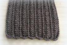 echarpe tricot homme