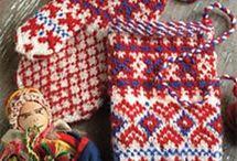 knitting socks/mitts
