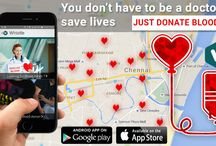 Blood Donor / Using the Do whistle App you can Donate and Get Blood at the Time of Emergency