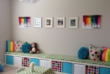Kids room benches