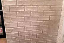 cihlová zeď fejk