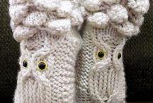 Looming + knitting