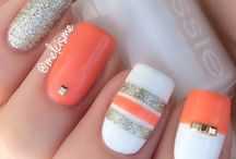 Perfect color combo by @melcisme | Enter or vote in the Hard Candy Spring Nail Art Contest!