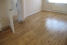 Living Area Wood Installation / Client: Private Residence In West London. Brief: To supply and install a wood floor.