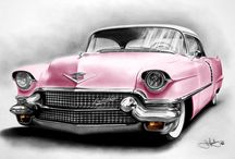 Pink Transportation / Cadillacs, Cars, Vans, Motorcycles, Bicycles, skates, or anything that will get you there.  / by Running Smart