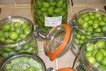 préparaton olives vertes en bocaux