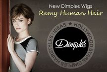 New Remy Human Hair Wigs by Dimples / Best Wigs l European Hair Quality Wigs Hollywood Stars Dimples Hairstyles / Ideas  Dimples Wigs are made in both synthetic & human hair wigs. For higher quality cap construction the monofilament wigs and lace front wigs are offered for expanded options.