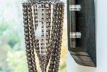 Светильник с цепями