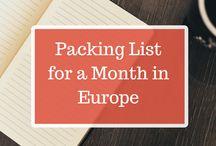 Packing List / Packliste