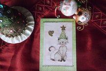 Cartes de voeux / Mes ouvrages : Cartes de voeux pour Noël, anniversaire, remerciement ou simplement pour faire plaisir.