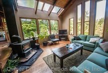 Vancouver Island Vacation Rentals / Voted #1 island in Canada, Vancouver Island welcomes you with a sweet and delicate smell of old-growth rainforests which is naturally soothing and relaxing. While strolling along its beaches, you can enjoy the scenic mountain views from a distance. / by Owner Direct Vacation Rentals