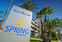 "Spring Hotel Bitacora / Situated in the heart of Playa de Las Américas, is the perfect family hotel. With half board and all inclusive options. Children facilities: waterslide at the pool and the newest children's Theme Park ""Springlyworld"" /  Situado en el centro de Playa de Las Américas, es el hotel perfecto para familias, con servicio de media pensión y todo incluido. Niños pueden disfrutar de un tobogán y de nuestro gran parque el ""Springlyworld"""