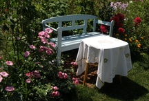 How to make your relaxing corner in the garden / Photos from my garden, my flowers and relaxing places.