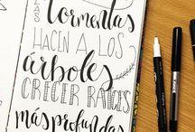 Letras a mano