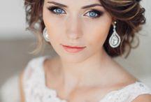 Brautfrisur + Kleid