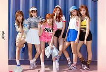 Apink / Apink (Korean: 에이핑크, Japanese: エーピンク; also written A Pink) is a South Korean girl group formed by A Cube Entertainment in 2011. The group consists of Park Cho-rong, Yoon Bo-mi, Jung Eun-ji, Son Na-eun, Kim Nam-joo and Oh Ha-young. Hong Yoo-kyung left the group in April 2013 to focus on her studies.