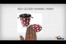 Aluminium Polka Dots Ice Bucket-Video