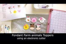 Electronic cutters / Sugar art using electronic cutters