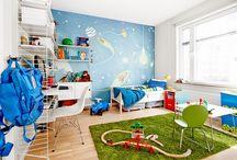 """kosmiczny pokój dla chłopca / inspiracje na urządzenie pokoju dla chłopca w """"kosmicznym stylu"""", czyli rakiety, planety i ufoludki..."""