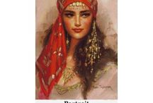 Cross Stitch Kits - Portraits / A variety of counted cross stitch kits featuring Portraits.  Find all our cross stitch kits at http://www.gobelins-tapestry.com