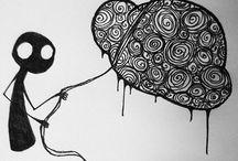Inspiration pour gribouillages / Gribouillages / Doodling Inspiration