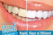 """Albire dentara cosmetica-fara peroxid / Biothecare """"Albire dentară"""" A dezvoltat cel mai sigur, rapid și eficient sistem în albirea profesională a dinților. Acum la dispoziția d-voastră în centrele BIOTHECARE pentru un preț fantastic. Dacă dinții d-voastră și-au schimbat culoarea datorită cafelei, ceaiului, tutunului, vinului roșu sau este doar efectul trecerii anilor, Biothecare Albire Dentară folosește cea mai nouă tehnologie americană cu un sistem de acțiune triplu, ce vă asigură un zâmbet perfect în doar câteva minute."""