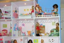 """Dollhouse ideas / Ideas, plans for dollhouse for AG 18"""" dolls"""