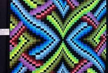 Bargello Quilts / Bargello quilts are  stunning works of art which are full of motion and beauty.