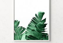 tropical moodboard interior