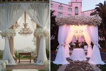 wedding ceremony decor (arches, chuppahs)