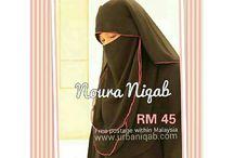 URBANIQAB Face Veil - Noura Niqab / NOURA NIQAB - Urbaniqab unique 3 layer niqab that comes with pink or black lining. Elegant soft chiffon face veil.