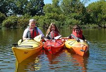 Kayaking Fun on Lake G / Grab your kayak and venture into a private cove nestled in the 949 miles of scenic shoreline on the 69,000 acre Lake Guntersville