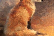 Fox oil painting / by Aleksandra Kucher
