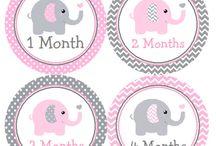 Bebek aylık çıkartmalar