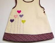 frock with heart patches