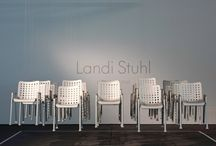 """Landi Chair / Celebrating the 75th anniversary of the legendary Swiss National Exhibition """"Landi"""" in Zurich. To commemorate this occasion, Hans Coray's Landi Chair has been reissued – in the same design that visitors admired at the National Exhibition in 1939. Swiss designer Michel Charlot introduced the Davy Table, an aluminium table to complement the Landi Chair.  Find out more about the Landi Chair at www.vitra.com/landi and about Davy Table at www.vitra.com/davytable"""