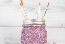 Decoración con glitter/purpurina/polvo de hada