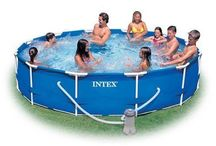 Metal Frame Pool Set Garden Outdoor Toys Best For Home Family Toy Water Relax #intex