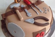 cakes with tools for men or boys