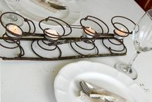 Table Top Rentals / It's the little touches that catch the eye!  Candlesticks, Metal, Wood, Tins, Glass, Berries , and More!!