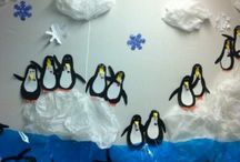 Arctic Animals bulletin board idea / This page has a lot of free Arctic Animals(penguin,polar bear) bulletin board idea for kids,parents and preschool teachers.