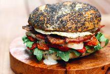 Z chlebem i bułką / Propozycje podania kanapek, sandwichy, burgerów