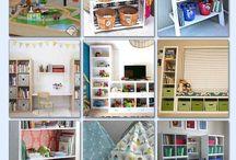 Organizing Playrooms & Kid's Spaces