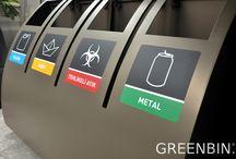 Greenbin X tetra / Greenbin, nature lover recycle unit, recycling bin, geri dönüşüm ünitesi, geri dönüşüm kutusu