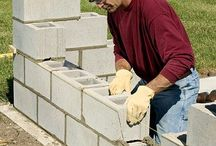 building a concrete wall