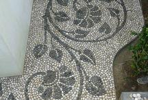 Mosiac with stones