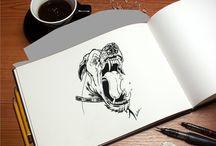 doodling crazy / pen on paper the doodling starts