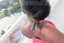 Buns & Updos / Protective Styles for relaxed hair